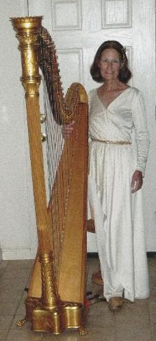 Traditional Golden Harp